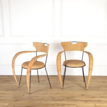 Pair of Italian Rattan Chairs CH7913618