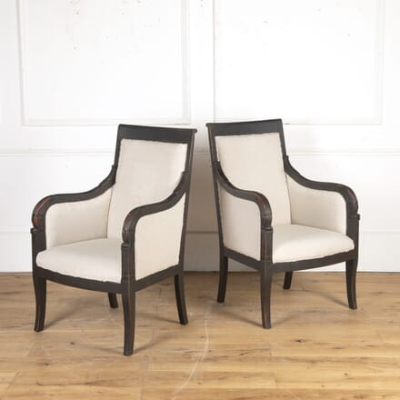 Pair of Early 20th Century Swedish Armchairs CH8116302