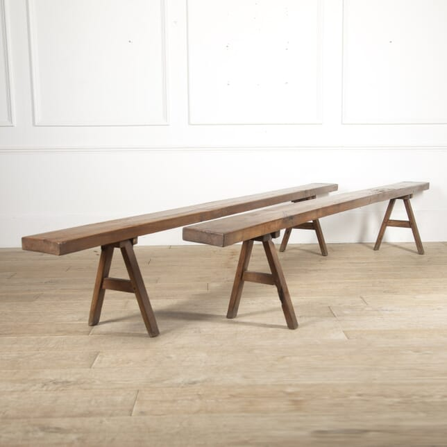 Pair of French Cherrywood Benches SB5215626