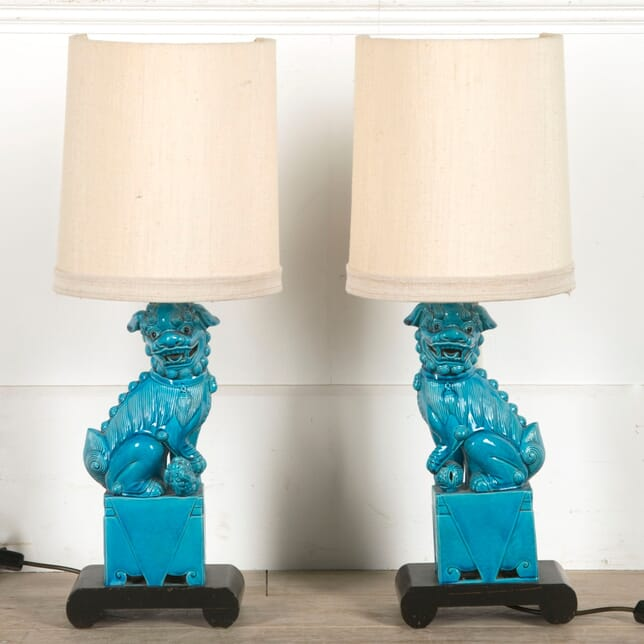 Pair of Chinese Dragon Lamps LT7310400