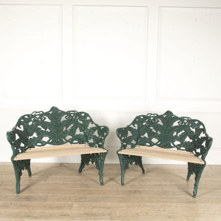 Pair of Coalbrookdale Garden Benches SB0513457