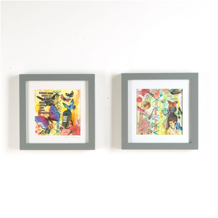 Pair of Contemporary Collages WD3010391