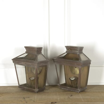 Pair of Copper and Brass Wall Lanterns LL459239