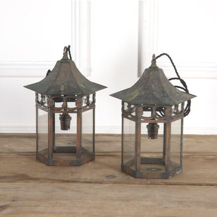 Pair Of English Copper Lanterns LL7317100