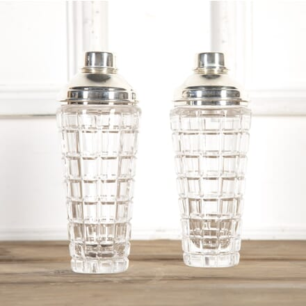Pair of Crystal and Silver Plate Cocktail Shakers DA5815469