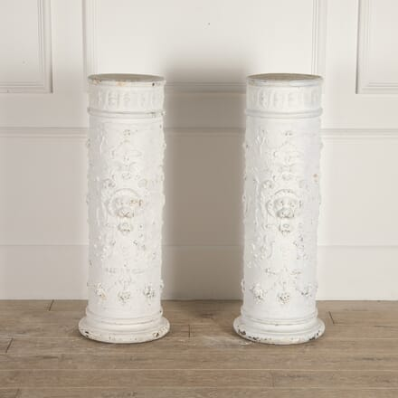 Pair of Decorated Italian Plaster Columns DA0114763
