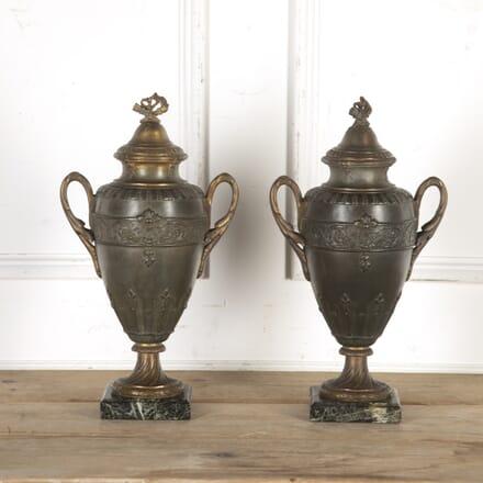 Pair of French Spelter Urns DA8516509