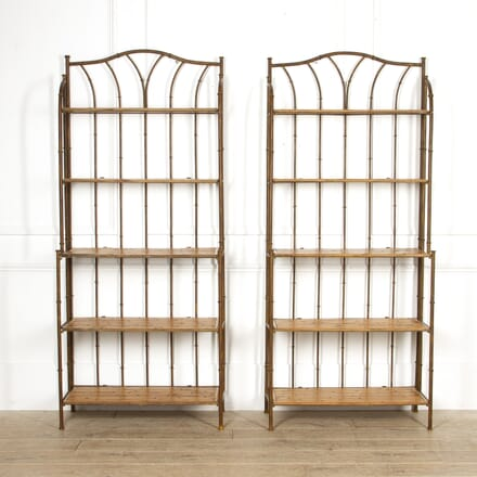 Pair of Faux Bamboo Display Stands BK5217339