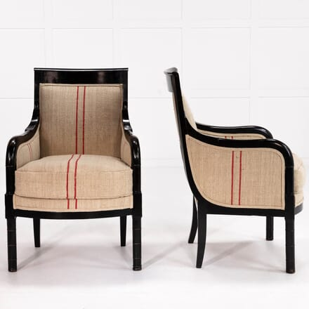 Pair of Early 19th Century Ebonised French Chairs CH069905