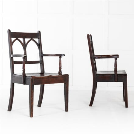 Pair of Early 19th Century English Oak Chairs CH0611420
