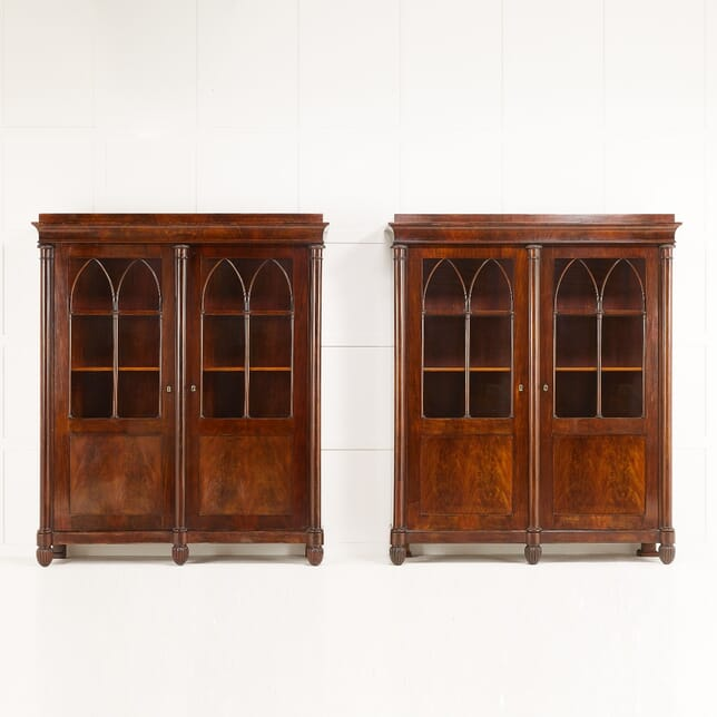 Pair of Early 19th Century French Empire Period Bookcases BK0610178