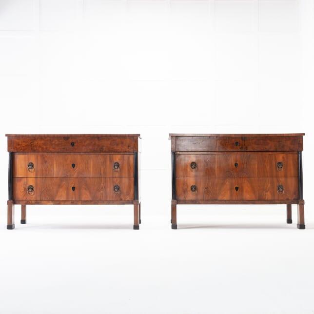 Pair of Italian 19th Century Walnut Chests of Drawers CC0616383