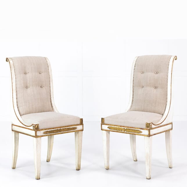 Pair of Early 19th Century Painted Italian Side Chairs CH068931