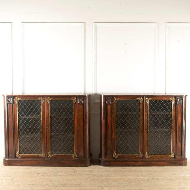 Pair of Early 19th Century Rosewood Chiffoniers BU8811367