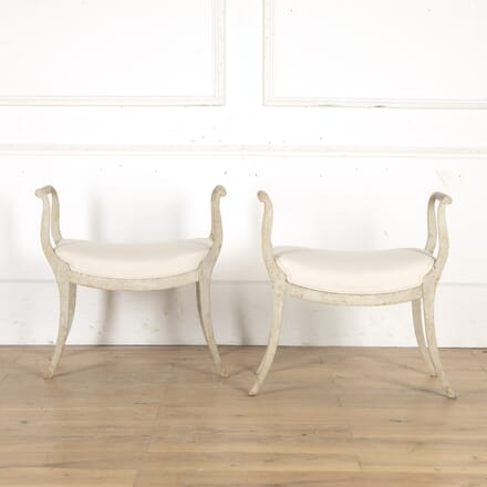 Pair of Early 19th Century Swedish Stools ST9014927