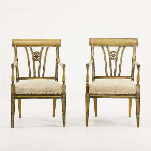 Pair of Early 20th Century French Painted Chairs CH0610188