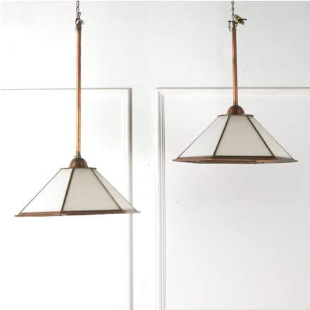 Pair of Early 20th Century Industrial Lamps LC7610604