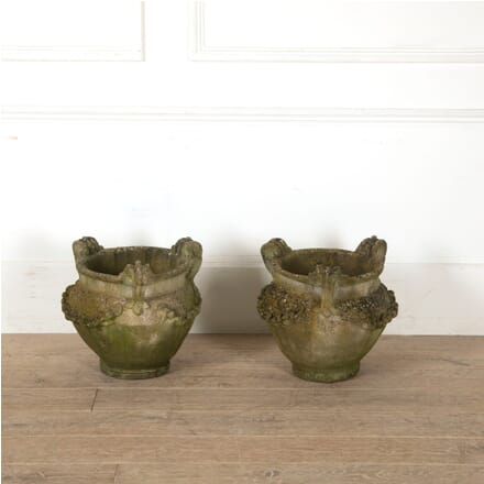Pair of Early 20th Century Reconstituted Garden Planters GA8811204