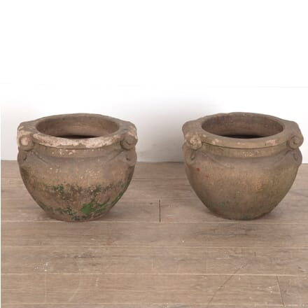 Pair of Early 20th Century Terracotta Scroll Pots GA0911493