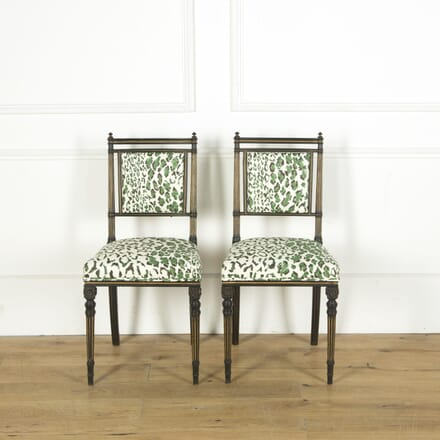 Pair of Ebonised Aesthetic Movement Chairs CH599930