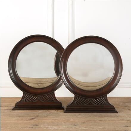 Pair of Ebonised Convex Mirrors MI5510827