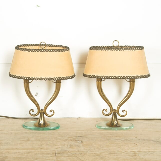 Pair of Elegant Brass Lamps LT3010385