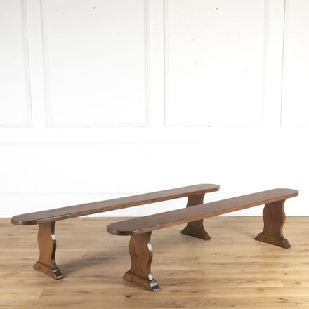 Pair of French Elm Benches SB8514573