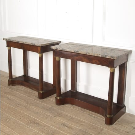 Pair of French Empire Mahogany Console Tables CO3915792