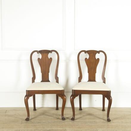 Pair of English George III Mahogany Chairs CD889716