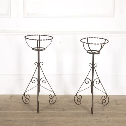 Pair of English Mid 20th Century Plant Stands GA7713647
