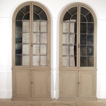 Pair of English Mirrored Bookcase Doors MI4115175