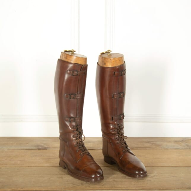 Pair of English Officers Leather Boots DA359026