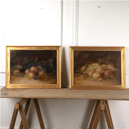 Pair of English Still Life Paintings Signed A. Langford WD8811531