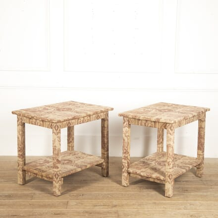 Pair of English Toile de Jouy Side Tables CO4116400