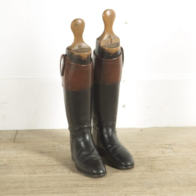Pair of English Vintage Leather Riding Boots DA8810075