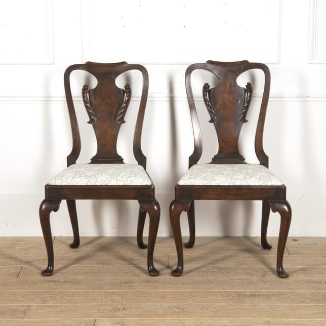 Pair of English Walnut Side Chairs CH8816090