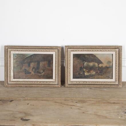Pair of Farmyard Scene Paintings WD1515320