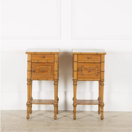 Pair of Faux Bamboo 19th Century Night Stands BD459880