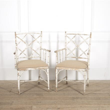 Pair of Faux Bamboo Cockpen Chairs CH4515042