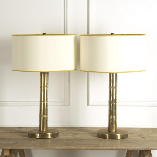 Pair of Faux Bamboo Lamps LT309939