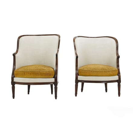 Pair of French 18th Century Walnut Armchairs CH0662327