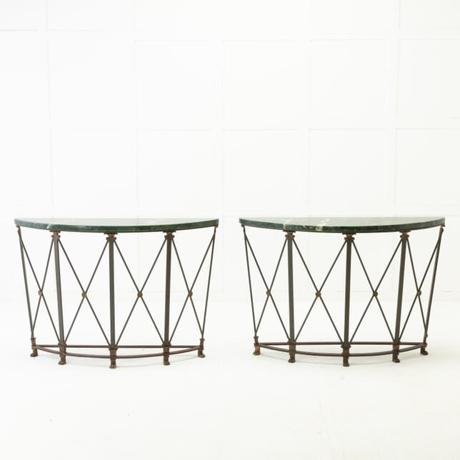 Pair of French 1940s Iron Console Tables CO0616870