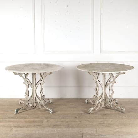 Pair of French 19th Century Carrara Marble Tables DA0213318