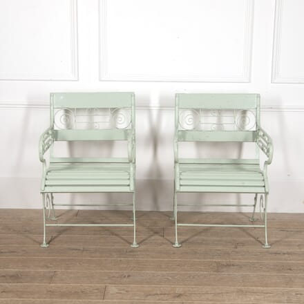 Pair of French 19th Century Garden Chairs GA0215417