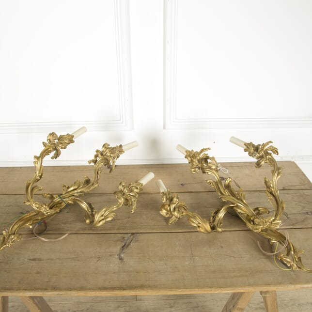 Pair of French 19th Century Ormolu Wall Sconces LW889690