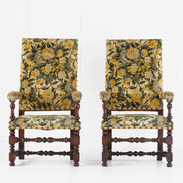 Pair of French 19th Century Tapestry Armchairs CH0610377