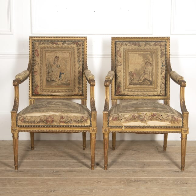 Pair of French Gilt Armchairs CH3516014