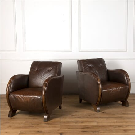 Pair of French Art Deco Club Chairs CH7610616