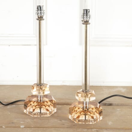 Pair of French Art Deco Glass Lamps LT8715372