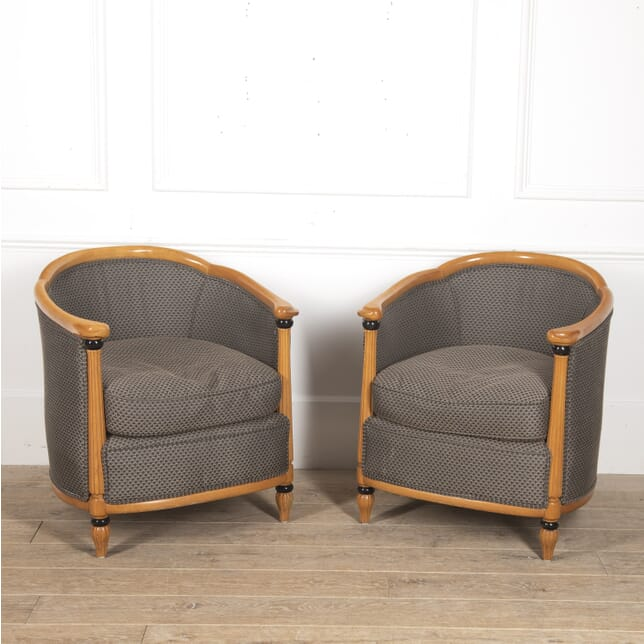 Pair of French Art Deco Style Club Chairs CH8816073
